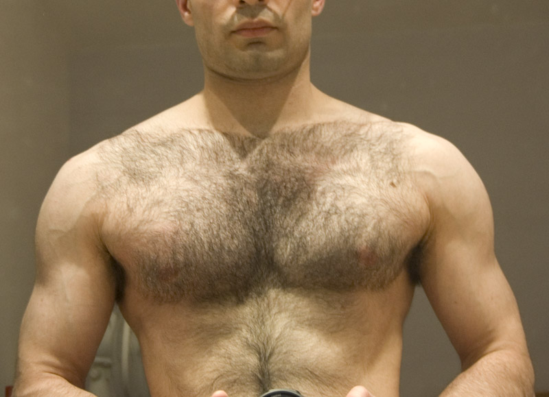 Male chest hair fetish